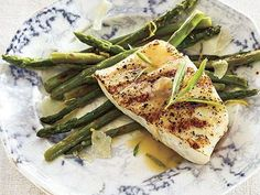 Grilled Halibut with Tarragon Beurre Blanc