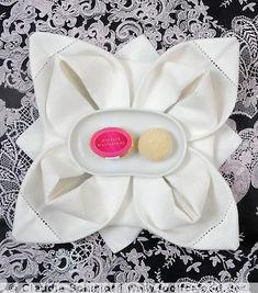 Napkin folding: The Rose!