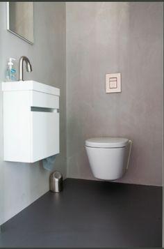 Toilet - contrast in kleur en materialen