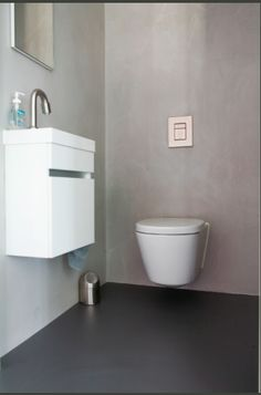Toilet - contrast in kleur en materialen