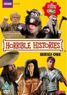 Horrible Histories DVD First Series collection. We use these a lot in class and they really get the students' attention Comedy Tv Shows, Movies And Tv Shows, Chloe Thomas, Sarah Hadland, Mathew Baynton, Teacher Wish List, Horrible Histories, Monty Python, World History