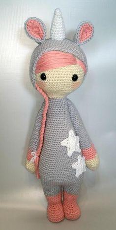 lalylala unicorn mod made by red fox stitches / based on a lalylala crochet pattern