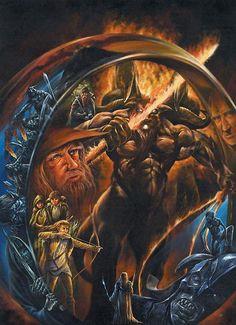 tolkien book cover - Fantasy Art