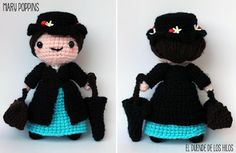 Mary Poppins #amigurumi #crochet #tricot #ganxet #ganchillo