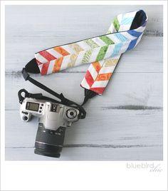 rainbow chevron camera strap cover via Poppytalkhandmade LOVE.