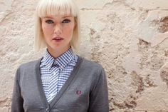 color rude boy Fred Perry. Totally love this look, really want this shirt & jumper!!