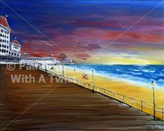 Boardwalk Stroll - Painting with a Twist