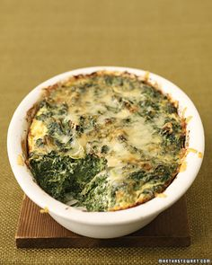 Spinach-and-Cheese Puff with Gruyere and chopped spinach
