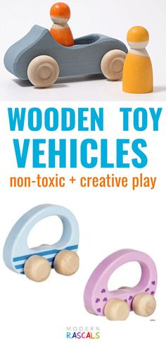 Vroom! Vroom! Hours of imaginative and creative open-ended play are to be found with our collection of wooden toy cars. Oh, the places we'll go! Our wooden vehicles go perfectly with our waytoplay roads. Afterward, the vehicles do not have to go into the car wash, but can simply be cleaned with a damp cloth.  These non-toxic wooden toy vehicles are sure to be hit! #grimms #woodtoys #kidstoys #montessori #ecofriendly #oragnictoys #toddlertoys Toddler Toys, Baby Toys, Kids Toys, Get Baby, Baby Sleep, Toy Car Wash, Grimm's Toys, Wooden Toy Cars, Toys For Us