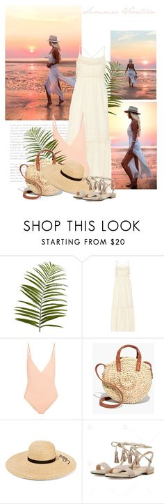 """Summer Vacation"" by bliznec ❤ liked on Polyvore featuring Pier 1 Imports, Rachel Zoe, FELLA, Madewell and Eugenia Kim"