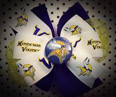 Minnesota Viking spirit pinwheel hair bow on Etsy, $8.00