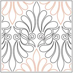 I Dream of Feathers Pantograph © Naomi Hynes Quilting Stencils, Longarm Quilting, Free Motion Quilting, Quilting Projects, Long Arm Quilting Machine, Machine Quilting Designs, Embroidery Patterns, Quilt Patterns, Quilt Stitching