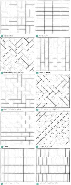 Subway tile pattern.Subway tile layout. Subway tile pattern styles. Subway tile pattern ideas. #Subwaytilepattern #Subwaytilelayout