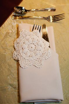 gifting your guests pretty little crocheted doilies might be a sweet touch to your vintage wedding