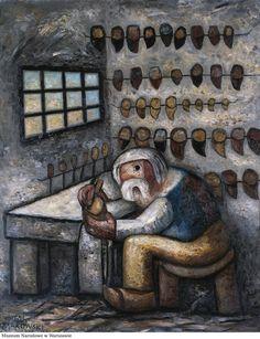 Shoemaker by Tadeusz Makowski