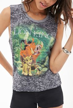Lion King Burnout Tank #SummerForever #GraphicTee #MustHave