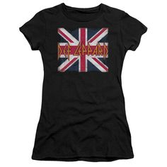 Def Leppard/Union Jack Junior Sheer in, Girl's