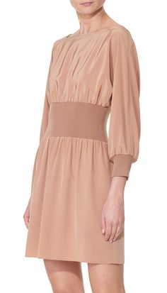Tibi - Silk Sculpted Corset Dress