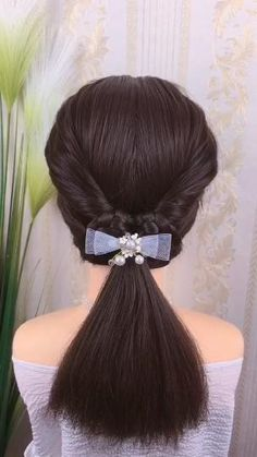 Simply Hairstyles, Cute Hairstyles For Medium Hair, Braided Hairstyles Tutorials, Medium Hair Styles, Cool Hairstyles, Beautiful Hairstyles, Party Hairstyles, Hair Style Vedio, Hairdo For Long Hair