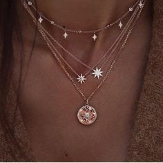 $10.18 | ZG Boho Gem Round Stars Pendant Multilayer Necklace Charm Pearl Gold Chain Party Jewelry Gift For Women бижутерия Outfit Accessories FromTouchy Style | Free International Shipping. Emerald Necklace, Diamond Solitaire Necklace, Diamond Pendant, Diamond Rings, Diamond Jewelry, Gold Jewelry, Jewelry Rings, Jewelry Stand, Hippie Jewelry