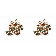 Collectif: Diamante Stud Earrings 'FLORAL'