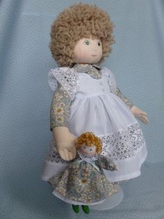 "PATIENCE.A 15"" rag/cloth handmade ooak collectable doll by Brenda Brightmore. 