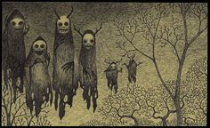 Horrific Post-Its by John Kenn Mortensen. Check out these creepy and amazing horror Post-Its from John Kenn Mortsensen. Creepy Kids, Creepy Art, Weird Art, Creepy Children, Creepy Paintings, Creepy Images, Creepy Stuff, Arte Post It, Post It Art