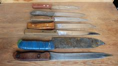 Collection 7 Soviet Vintage 60s Kitchen Knives Carving Knives Cutting Knife Collection Food Photography Props Antique Utensils Rustic Style by RAGMAN770 on Etsy