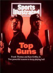 Ken Griffey Jr. and Frank Thomas, Sports Illustrated (August 8, 1994) #Mariners #WhiteSox