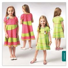 Amazon.com: Kwik Sew Girls' Pieced Dress Pattern By The Each: Arts, Crafts & Sewing