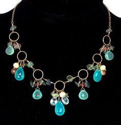 Necklace with Chalcedony,