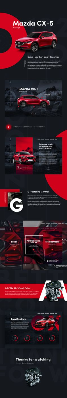Fresh UI concept for Mazda promo site Site Templates in HTML Ygyduc Ocyja Rizapo Site Templates in HTML Ygyduc Ocyja Rizapo Layout Web, Website Layout, Layout Design, Web Ui Design, Media Design, Page Design, Website Design Inspiration, Graphic Design Inspiration, Webdesign Layouts