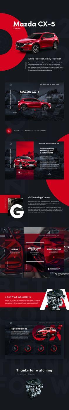 Mazda CX-5 Website concept on Behance