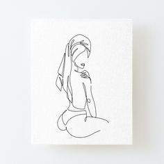 Women with Towel, One Line Print, Modern Art Poster, Single Line Art, Minimal Line Art, Single Line Drawing, Nude Line Drawing, Line Art by OneLinePrint | Redbubble Outline Art, Outline Drawings, Art Drawings Sketches, Minimal Drawings, Line Drawing Tattoos, Line Drawing Art, One Line Tattoo, Single Line Drawing, Abstract Line Art