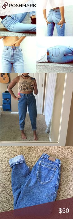 Lee Vintage High Waist jeans (mom jeans) Vintage high waisted Lee jeans, size 6 petite. These are amazing and I absolutely wish I would wear them more! Levis for exposure Levi's Jeans