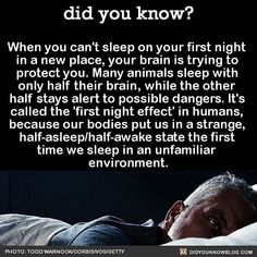 THIS is why I can never sleep in a new place!