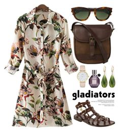 """Gladiator Sandals 1657"" by boxthoughts ❤ liked on Polyvore featuring DUBARRY, Somerset by Alice Temperley, Yves Saint Laurent, Kate Spade, Saks Fifth Avenue and Viktor & Rolf"