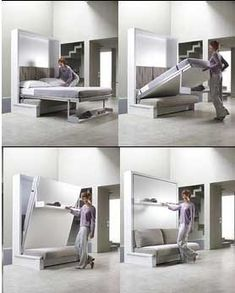 Folding Bed » DIY Home Design