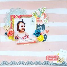 Kaisercraft : Finders Keepers Collection : love you forever layout by Amanda Baldwin Scrapbooking Layouts, Scrapbook Pages, Finders Keepers, Love You Forever, Happy Day, Mini Albums, Card Making, Paper, Frame