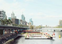 Studio Octopi designs floating swimming pool for Yarra River
