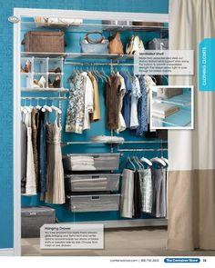 Birch White Elfa Decor Reach In Clothes Closet