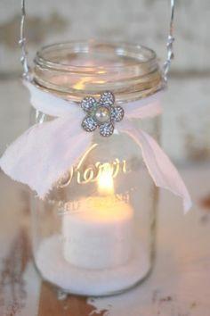 Hanging Mason Jar candle!