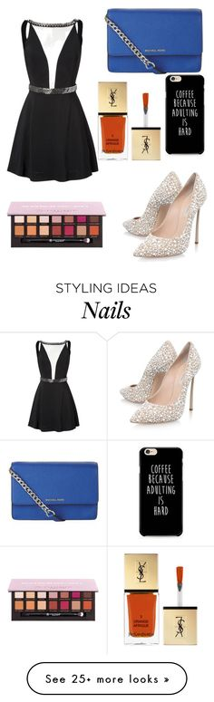 """""""Untitled #7431"""" by ohnadine on Polyvore featuring MICHAEL Michael Kors, Casadei, Yves Saint Laurent and Anastasia Beverly Hills"""