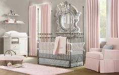 LOVE this baby girl nursery