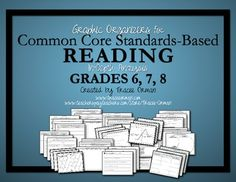 Common Core State Standards ELA Fiction & Non-Fiction Reading Graphic Organizers for grades 6, 7, 8. (35 handouts covering all of the standards, priced.)