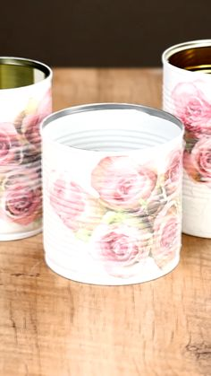3 stylish ideas for empty cans Best Picture For DIY Upcycled Crafts creat Upcycled Crafts, Diy And Crafts, Paper Crafts, Diy Y Manualidades, Reuse Recycle, Diy Videos, Handicraft, Diy Gifts, Handmade Gifts