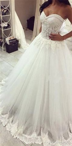princess wedding dress #lace #princess