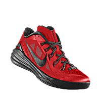 I designed the university red Nike Hyperdunk 2014 Low iD men's basketball shoe with black trim to support the Georgia Bulldogs.