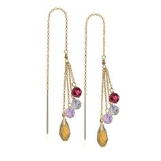 If you like making a statement with color, these earrings are for you!