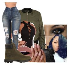 """Untitled #2305"" by kayla77johnson ❤ liked on Polyvore featuring Topshop and Timberland"
